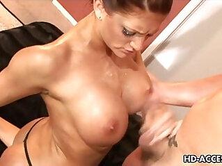 Huge tits Eva Lawrence big cock and fucking!