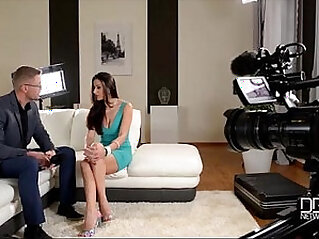Italian babe gets Interviewed before anal sex