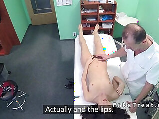 Doctor licks and fucks hairy patient