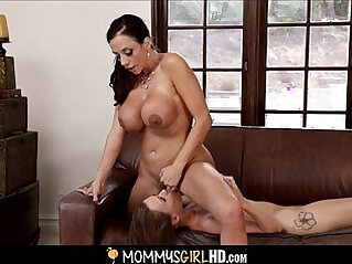 Sexy mom and daughter