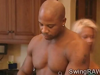 Sexy couple spends weekend in swinger mansionavid and Christine