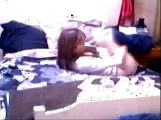 Quick orgasm of my sister caught by hidden cam