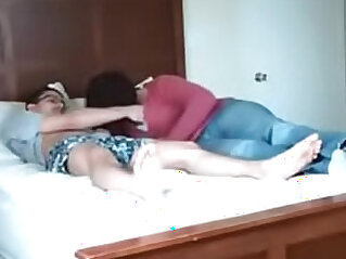 Cheating on hidden cam with her sister