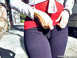 Amazing Ass!, Cameltoe! Natural big Tits! Flashing in Public!