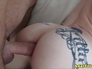 Tattooed anal sex with amateur slut gets cum in mouth