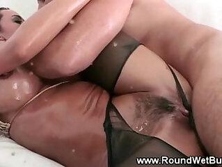 Pornstars likes her hard cock oily