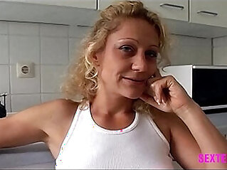 Little amateur MILF Whore eager to drink last drop of facial after fuckign