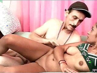 Ebony chick gets drilled by teacher