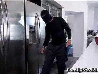 Dad Fulfills Teen Step Daughters Fantasy Fucking A Burglar