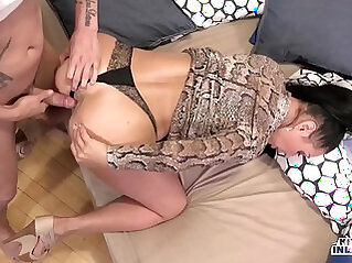 KINKY INLAWS Forbidden anal sex with Russian MILF Eva Ann and young stepson