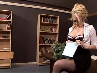 Sexy busty blonde fucked