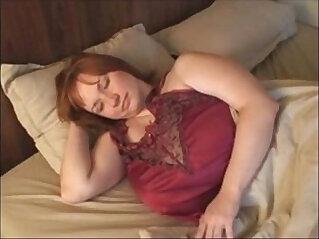 A Redhead BBW Milf love with Huge natural big Boobs