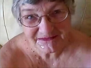 Old granny loves cock. Great facial