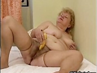 Sexy blonde slut goes crazy masturbating
