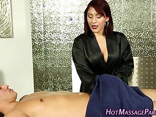 Jizzy mouth masseuse suck