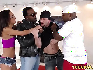 Amara Romani Double Penetrated by BBCs Cuckold Sessions at big black dong niche