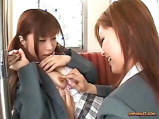 Schoolgirl Getting Her Tits Nipples Sucked By Other Schoolgirl