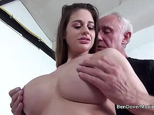 Cathy Heaven fucking her ass with Grandad Ben Dover