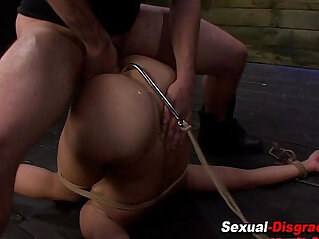 Bdsm slut gets fingered