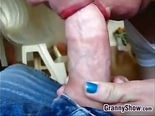 Granny Squeezing On A Cock Point Of View