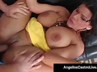 Cuban bj queen angelina castro gets a big cock in her pussy