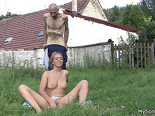 He finds his father in law licks her young pussy at father niche