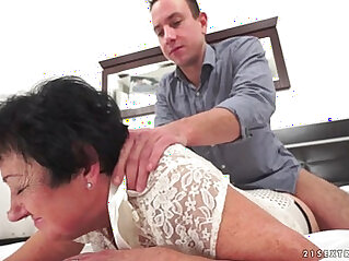 Mature gets fucked by a young guy