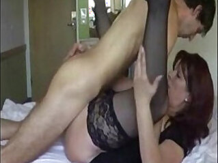 Hot Mom Fucking pussy with son