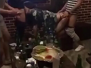 Chinese girl from is fucked by two men in ktv because she is drunk