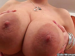 Soccer mom with natural tits and well used pussy