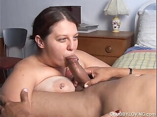 Big tits loves to suck cock and eat cum