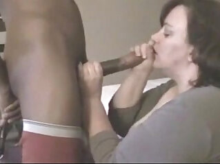 mature BBW fucks her young black cock in hotel room while husband is away